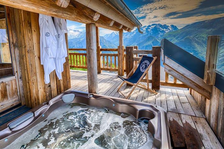 """Le Perchoir"" New 2020, Ski in/out Jacuzzi, Sauna"