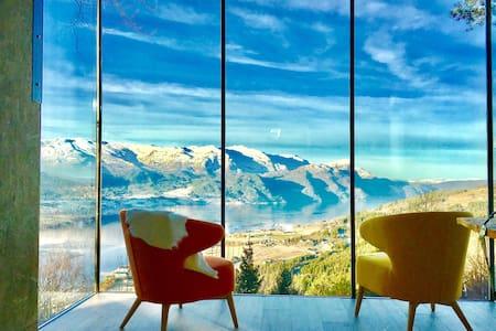 Amazing panoramic tree house Norway