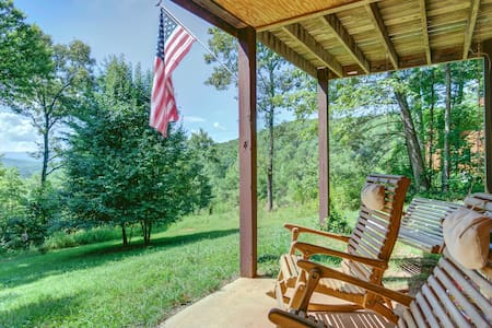 Mountain home w/ patio, firepit, fireplace & great views - dogs ok!