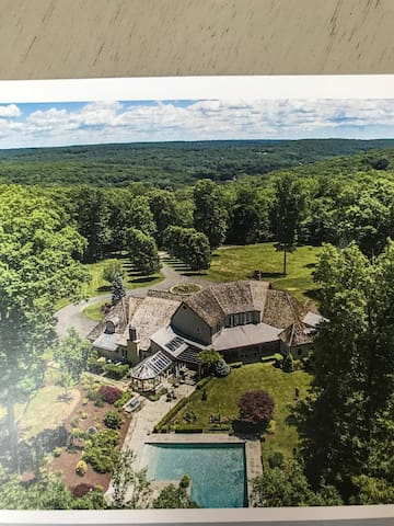 Carriage House on 44 Private Acres in Connecticut