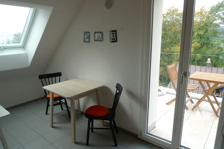 Double Bed Room in Loft above Rotsee Lake