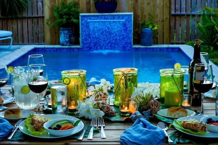 Sanctuary Cottage, Pool Paradise Near Beach