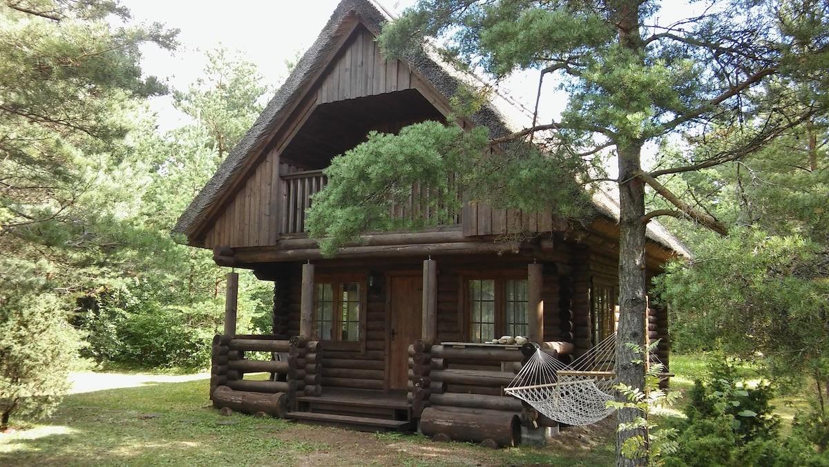 Private loghouse near the sea