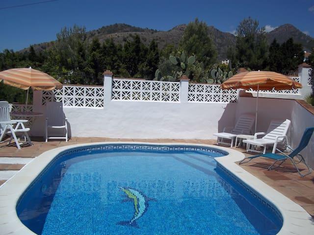 2 bedroomed villa with private pool in Maro, Nerja