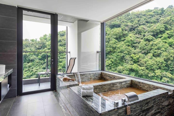 景觀山景一大床 | 黃金冷熱雙泉!一個價格給您兩種享受!