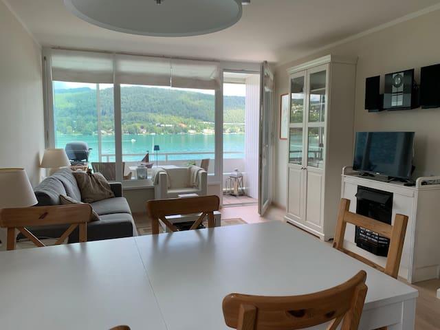 Wohnung mit Seeblick & Seezugang in Velden
