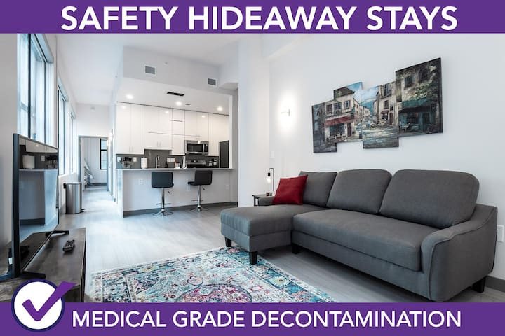 Safety Hideaway - Medical Grade Clean Condo - Heart of Business District # 501