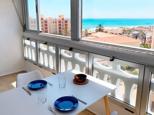 Apartamento fresco con vistas al mar en La Mata