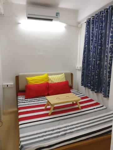 Santorini inspired terrace studio apartment
