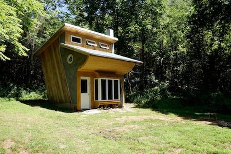 Unique, off-the-grid slanted cabin on 20 acres