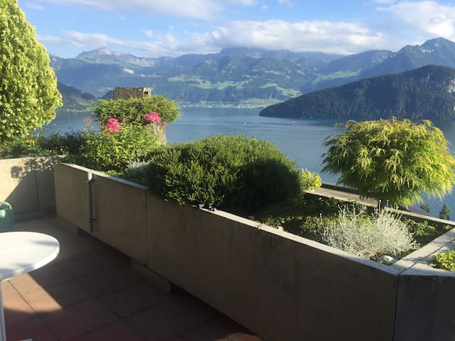 Best view to the lake Lucerne! 20 Min to Zug