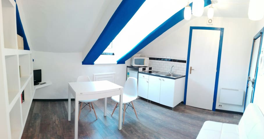 Typical attic in the city center