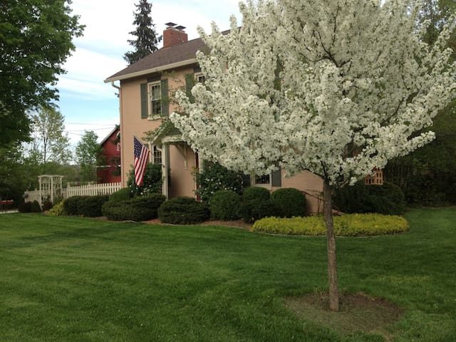 A beautiful, restored historic farmhouse