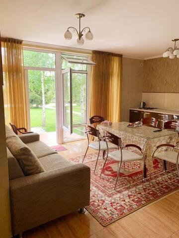 Уютная, чистая квартира с террасой в ЦО Каприз.