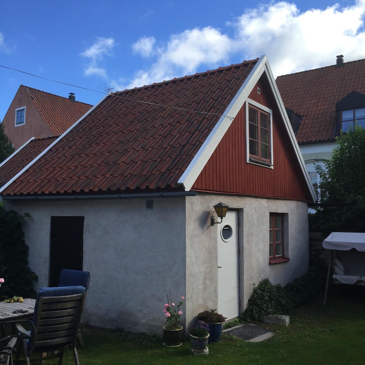 Gardehouse in center Visby