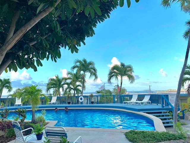 Condo w/ AC, Pool & Views. Clean, Secured, +Value!