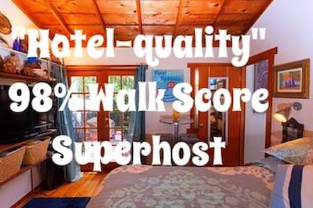 Weho Suite w/patio/50% discount/95% Walking Score!