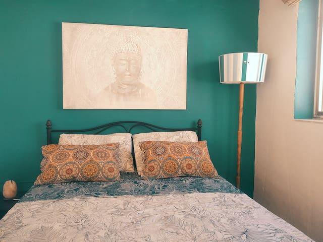 Bedroom, Bath R. & Private terrace. House near sea