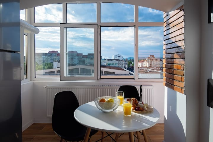 Studio with a view in city center