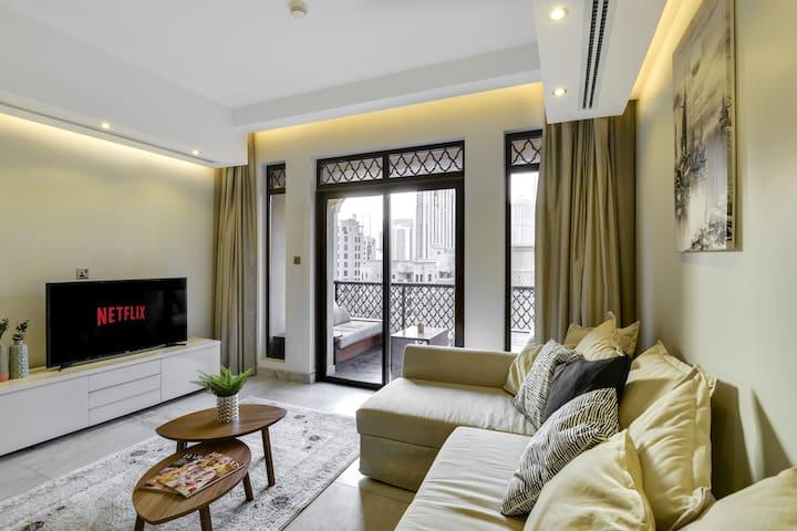 ★ Lux Flat with a Balcony   Burj Khalifa View