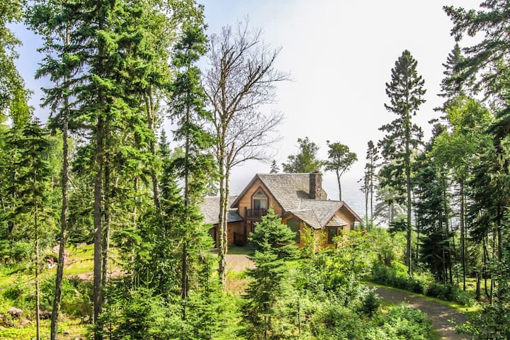 Enchanted Shores is a spacious vacation home on the shores of Lake Superior in the town of Hovland, MN