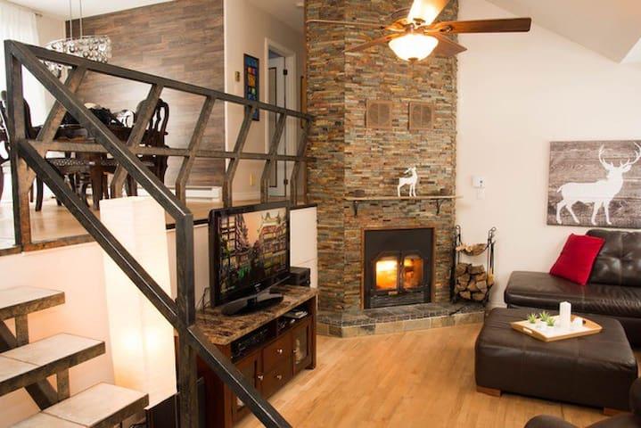 Maison lac beauport , ski et velo de montagne