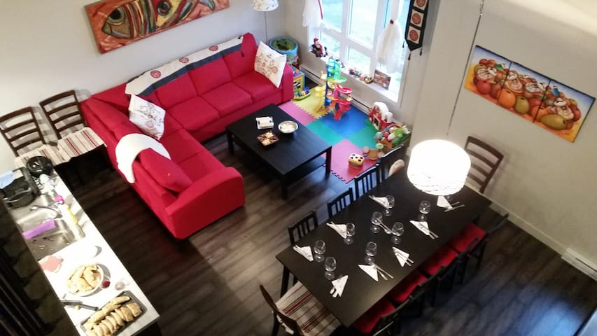 Beautiful with mezzanine for long stays in Granby