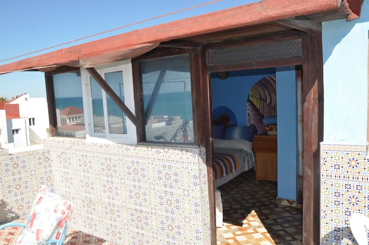 Grazella Hostel - Room 7 with sea and town view