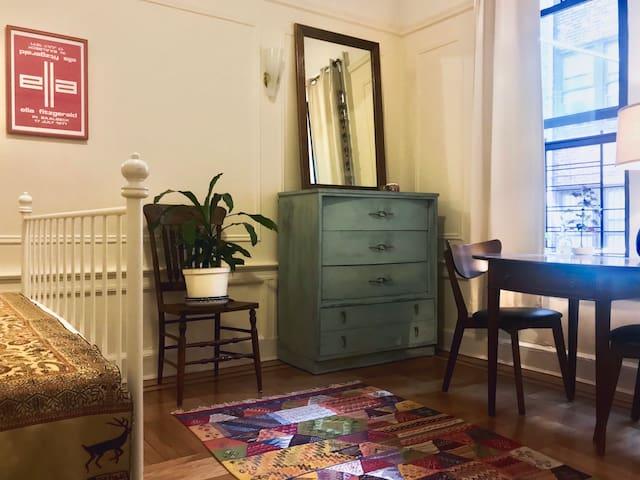 Sunlit Room in Cozy Apartment