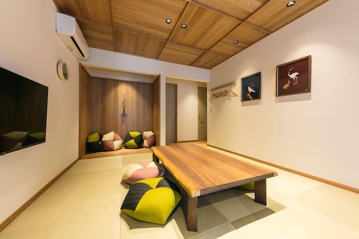 最大8名様まで宿泊可能/博多駅・中洲まで徒歩圏内/町家タイプの部屋
