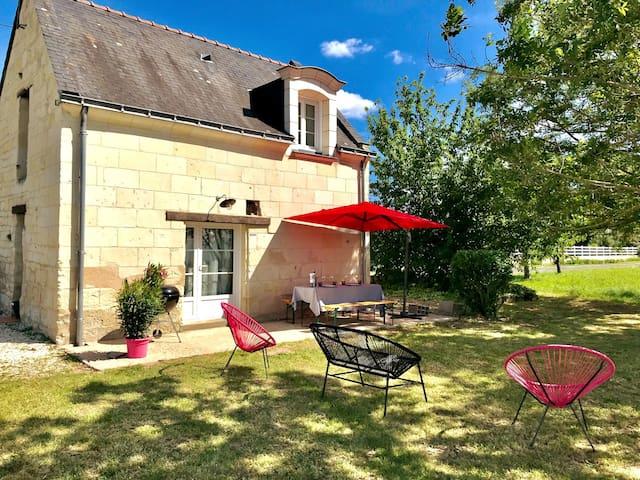 Maison de charme à 5 min Saumur - 15 min Chinon