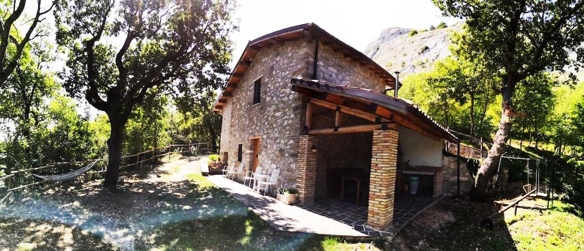 stone house in the woods      casetta nel bosco