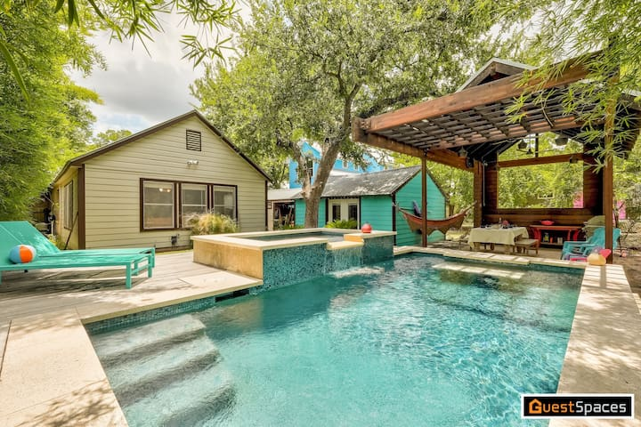 Heated Pool + Backyard Oasis - The Darling Dancy   Professionally Cleaned + Hosted By GuestSpaces