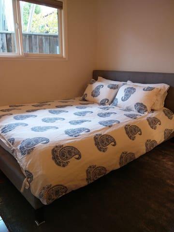 modern luxury - cozy queen bedroom