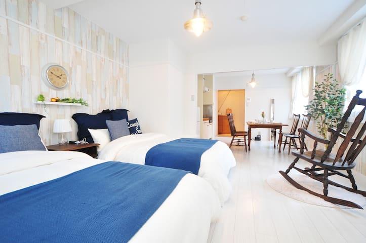 ■步行7分钟到大阪城■1LDK30㎡的公寓式酒店/Bijou Suites Antico404