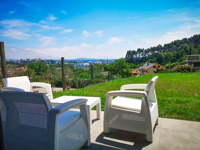 Preciosa villa con vistas a la ría de Ferrol