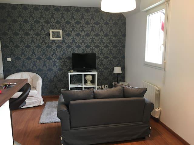 Studio cosy aux portes de Deauville .