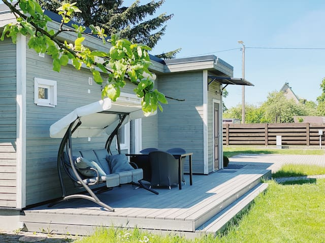 Family retreat with a sauna in the centre