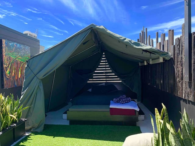 THE ROOFTOP GLAMPING Manly beach 100m. 1-2ppl
