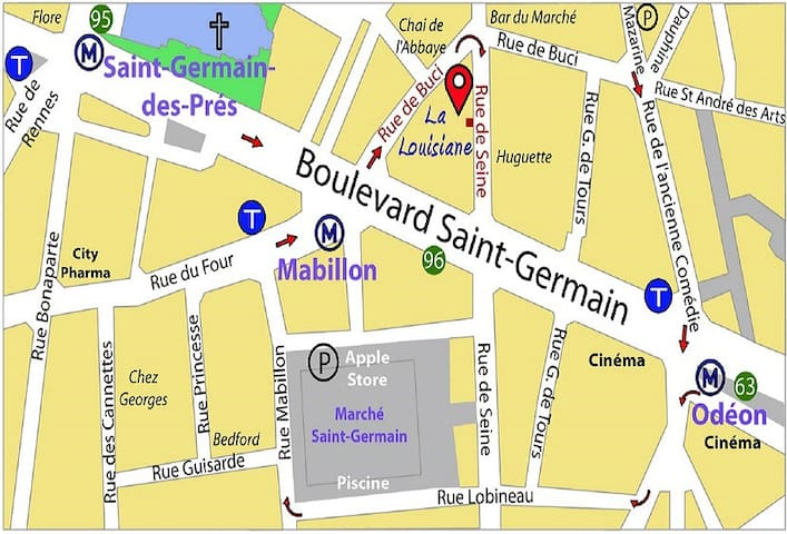 Single superior room rue de Seine rue de Buci