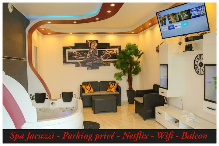 Suite Privatif Spa ,Jacuzzi Parking,Wifi,Netflix