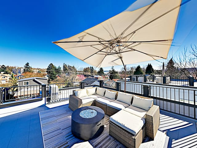 New Georgetown Gem with Roof Patio & Skyline View