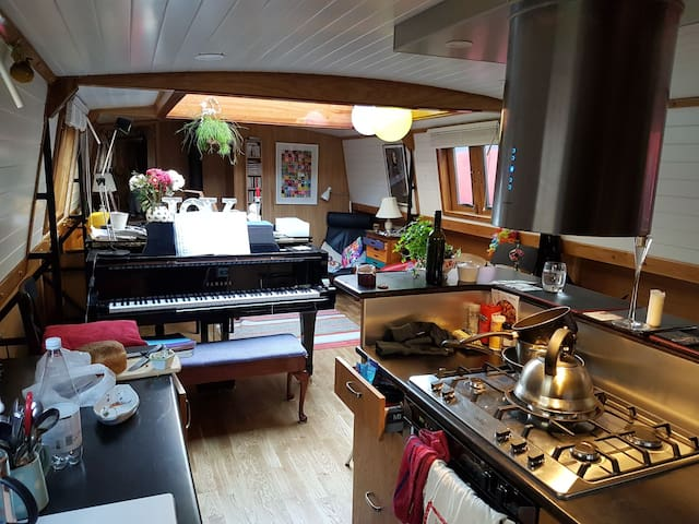 "Houseboat ""Freedom"" with grand piano, Kings Cross"
