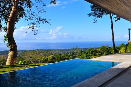 Ocean view villa surrounded by rain forest