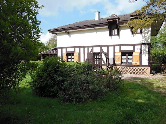 Chambre Bleue lit double - Cottage ambiance XVIIIe