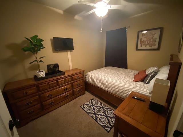 A Convenient, Comfy, Spacious, and Quiet Bedroom