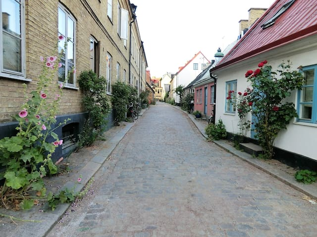Old Town getaway for two in the center of Lund