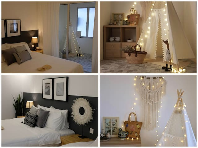 JsHome3 , Cheerful Getaway in a Chic Stylish Room