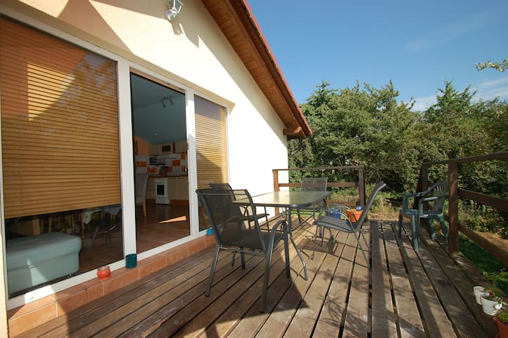 Bungalow type house with terrace, 930 sqm garden.