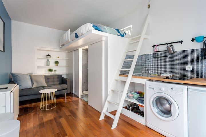 Eiffel Tower - brand new cosy studio in Paris